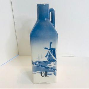 VTG Czech Porcelain Oil Canister